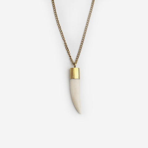 Meyelo Bone Tooth Necklace - Necklaces - Shop Nectar