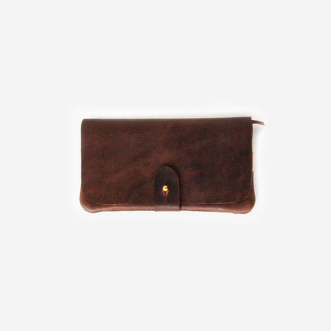 Meyelo Fair Trade Nubuck Wallet - african, bag, bags, bags-clutches-wallets, brass, Brown, clean-water, day, education, fair, fair-trade, gift, gifts, handmade, leather, Meyelo, mother's, supporting-women, trade, wallets