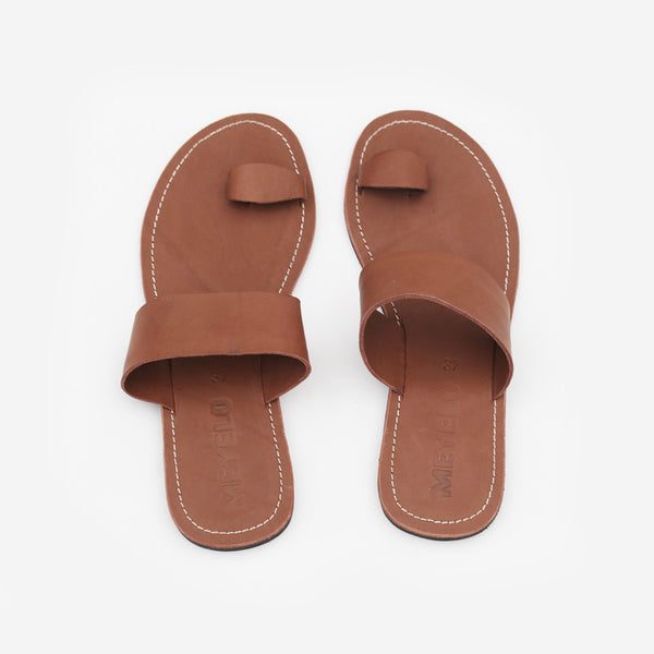 Meyelo Nuru Brown Leather Fair Trade Sandals - Sandals - Shop Nectar - 1