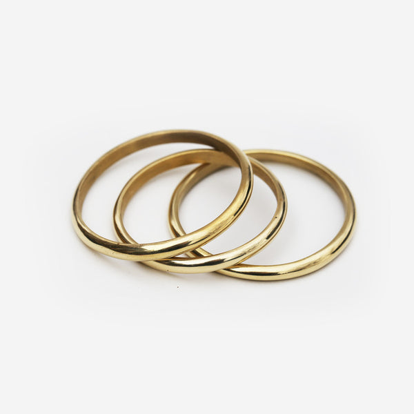 Meyelo Simple Brass Fair Trade Bangles - Bangles - Shop Nectar - 1