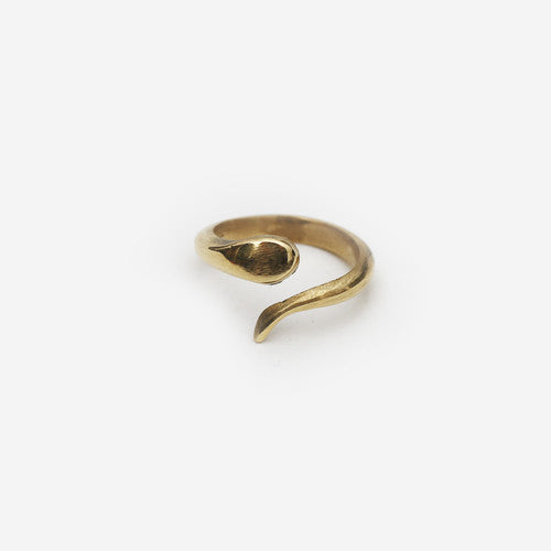 Meyelo Fair Trade Coil Ring - accessories, bohemian-chic, Boho Chic, brass, clean-water, day, Eco, eco-friendly, education, fair trade jewelry, fair-trade, gift, gifts, gifts-for-her, handmade, her, jewelry, metal, mothers, rings, Snake, staff-picks-jewelry, supporting-women