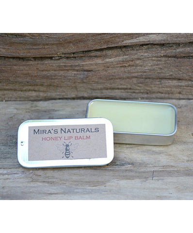Mira's Naturals Honey Lip Balm Tin - american-made, bath-beauty, beauty-hair-care, Beeswax, lip-balms
