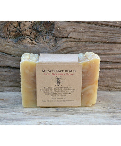 Mira's Naturals Beeswax Soap - american-made, bar-soaps, bath-beauty, handmade, Honey, organic, soaps-lotions-creams