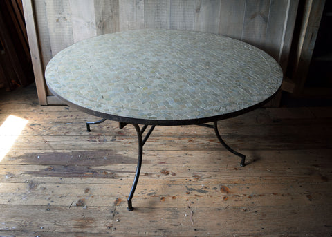 Large Round Moroccan Mosaic Tile Table