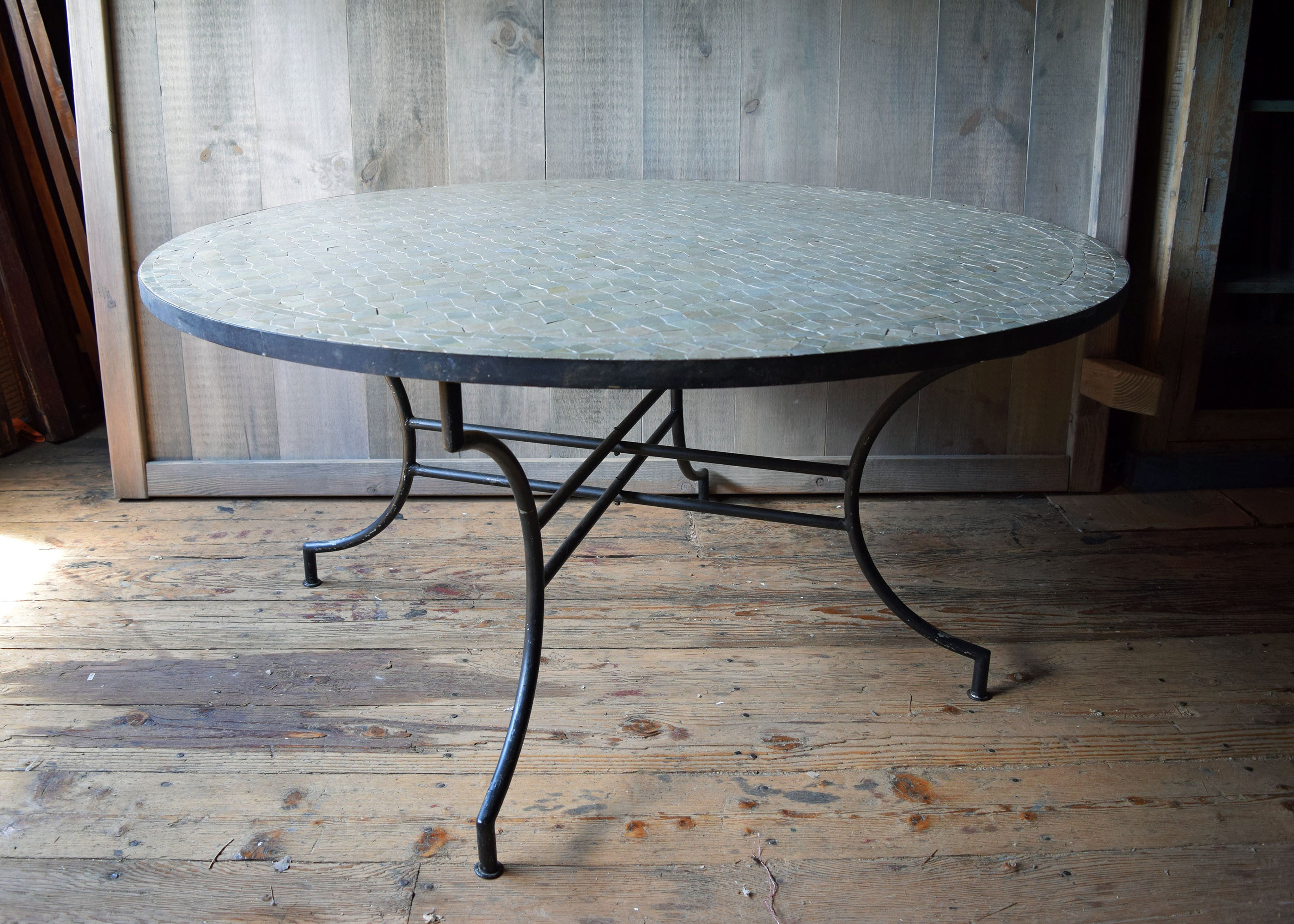 Round Moroccan Mosaic Tile Table