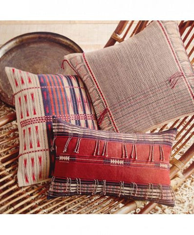 Roost Nagaland Pillows - assorted-styles, bedding-textiles, decor, decorative-pillows, India, pillows, pillows-throws, Roost, Tribal