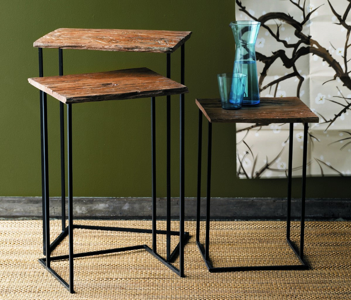Marvelous Roost Recycled Wood Nesting Tables   Nightstands U0026 Side Tables   Shop Nectar