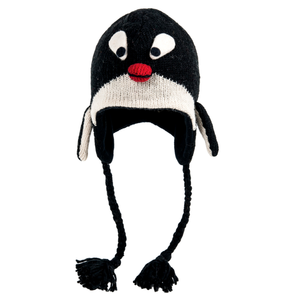 Cozy Hand Knit Penguin Hats