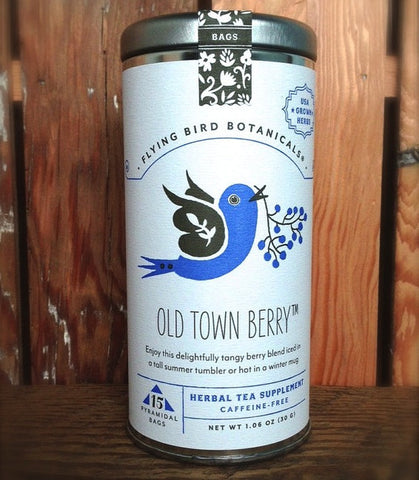 Flying Bird Botanicals Old Town Berry Tea - Bagged Tea - Shop Nectar - 1