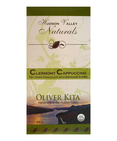 Oliver Kita Clermont Cappuccino Dark Vegan and Organic Chocolate Bar - Chocolate - Shop Nectar