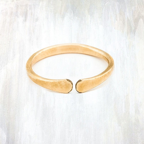 Open Ring by Fail - 14k Gold, american-made, Artisan, delicate, gift for, gift for her, gold, hammered, hand hammered, hand-made, handmade, jewelry, midi ring, ring, rings, rose gold, silver, Stacking Ring, Stacking Rings, Sterling Silver