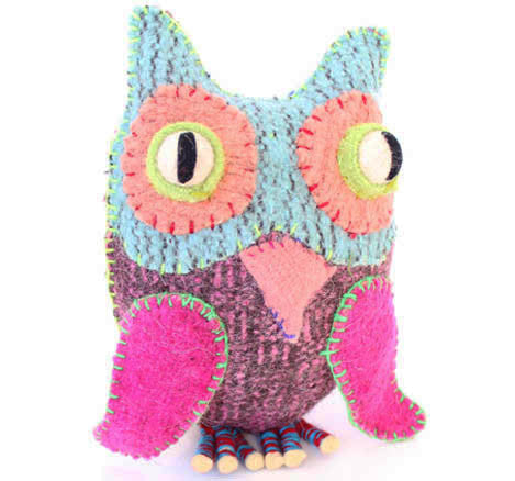 Twoolies Handmade Fair Trade Wool Owl - Stuffed Animals - Shop Nectar - 1