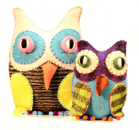 Twoolies Handmade Fair Trade Wool Owl - assorted-styles, dolls-stuffed-animals, fair-trade, handmade, Owl, room-decor, stuffed-animals, Twoolies, Wool