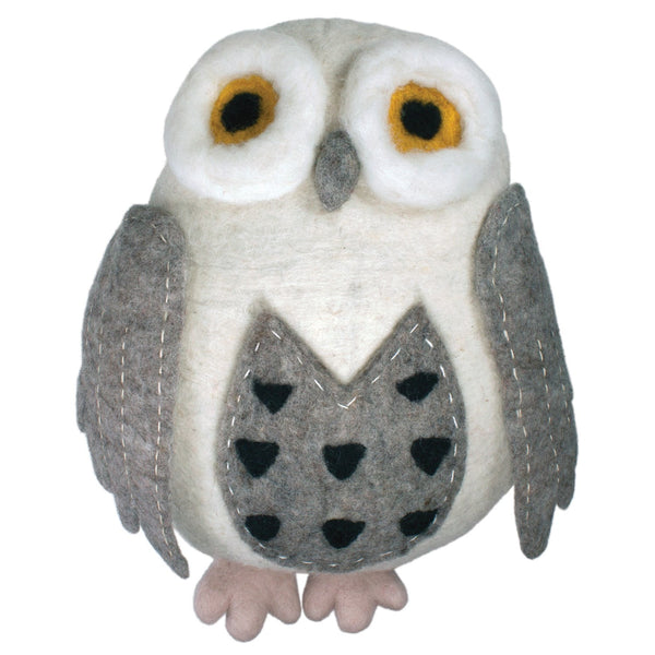 Hand-Felted Owl Couch Critter