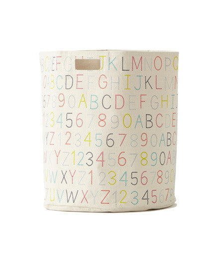 Pehr Large Alphabet Hamper - Kids Bins - Shop Nectar