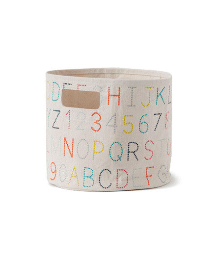 Pehr Pint Sized Alphabet Hamper - Kids Bins - Shop Nectar