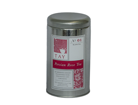 "Tay Tea ""Persian Rose"" Loose Leaf Blend - assorted-styles, black tea, caffeinated, coffee-teaware, kitchen-dining, loose-leaf-tea, organic, sweets-savories, Tay Tea, tea"