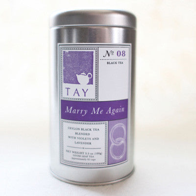 "Tay Tea ""Marry Me Again"" Loose Leaf Blend - assorted-styles, black tea, caffeinated, coffee-teaware, gifts-for-the-couple, gifts-for-the-occasion, kitchen-dining, loose-leaf-tea, organic, sweets-savories, Tay Tea, tea, wedding-gifts"