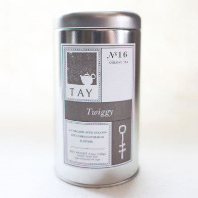 "Tay Tea Organic ""Twiggy"" Loose Leaf Blend - assorted-styles, blended, caffeinated, coffee-teaware, day, Gift, gifts, hand, kitchen-dining, Leaf, leaves, loose-leaf-tea, mother's, oolong, organic, sweets-savories, Tay Tea, tea, tealeaves, teas"