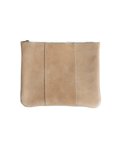 Raven and Lily Fair Trade Yami Topstitch Leather Clutch - Clutches - Shop Nectar - 2