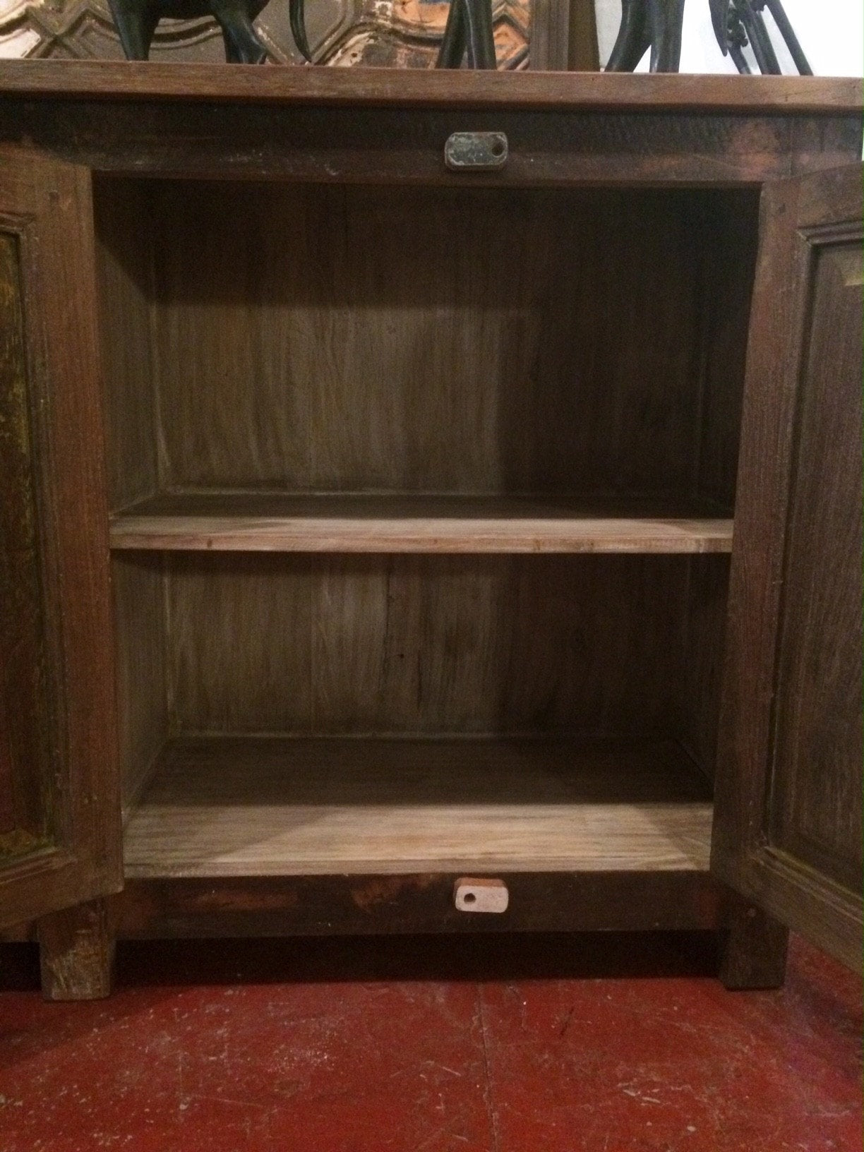 reclaimed wood sideboard with closed cabinets  open shelving  - reclaimed wood sideboard with closed cabinets  open shelving