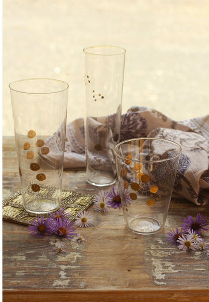 Roost Hand Etched Golden Berry Glassware - Glass Collections - Shop Nectar - 1