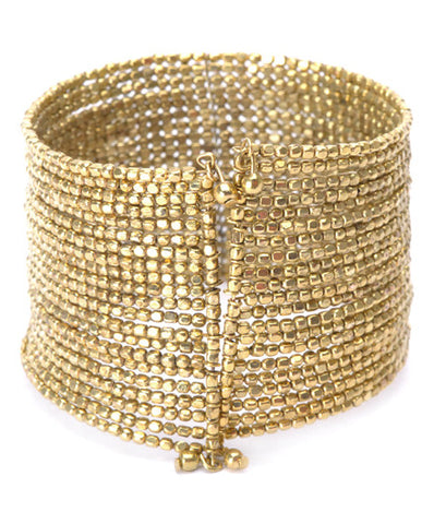 Roost Maya Mini Square Bead Cuff - assorted-styles, Bracelets & Cuffs, bracelets-bangles-cuffs, Cuff, cuffs, gold, jewelry, Roost, silver