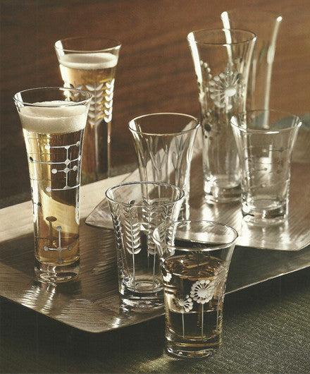 Roost Platinum Etched Glasswear - Glass Collections - Shop Nectar - 1