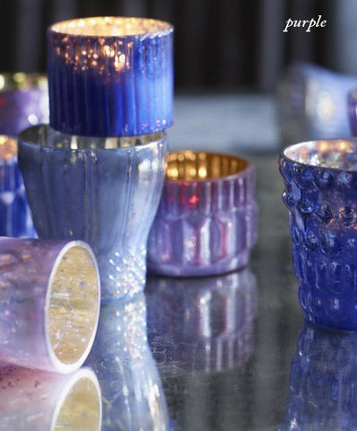 Roost Shimmering Mercury Glass Votive Holders - assorted-styles, candles-diffusers-incense, decor, mercury glass, Metallic, Roost, votive-holders, wedding-decor
