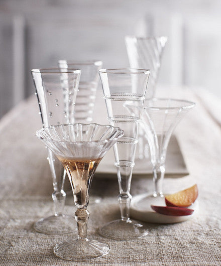 Roost Crystal Flutes - assorted-styles, Blown Glass, Entertaining, gifts-for-the-couple, gifts-for-the-occasion, glass-collections, glassware, glassware-1, handmade, kitchen-dining, Roost, wedding-gifts