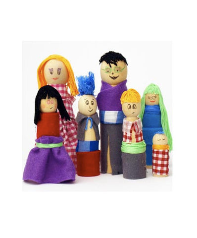 Create a Wooden People Family Crafting Kit - Activity Kits - Shop Nectar - 3