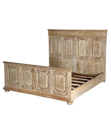 strassa distressed wood king bed frame and headboard beds shop nectar o