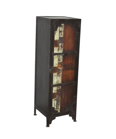 Skinny Industrial Cabinet with 3 Shelves - Cabinets - Shop Nectar
