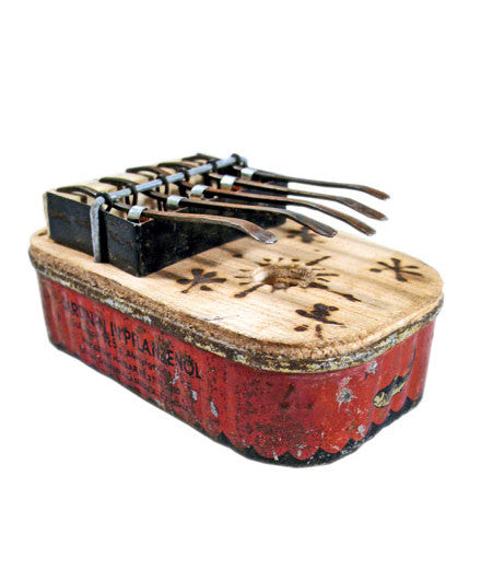 Small Square Recycled Tin Can Kalimba - africa, african, eco, fair-trade, handmade, kalimbas, music, music-instruments, recycled, sustainable, sustainably harvested