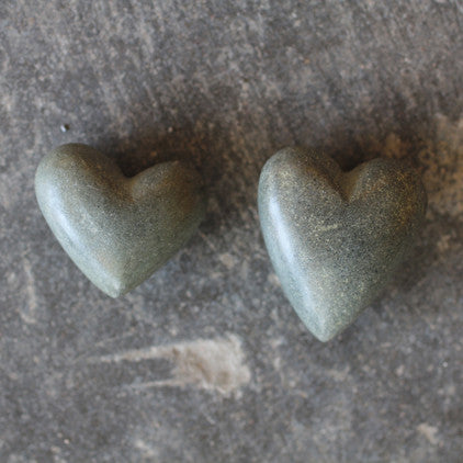 Handmade Fair Trade Riverstone Hearts - accent-details, assorted-styles, decor, fair-trade, granite stone, Heart, objets-dart, oddities-treasures, party-favors, riverstone, riverstone heart, social-responsibility, stone, stone heart