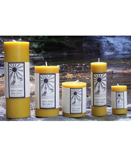 Sunbeam Candles Pure Beeswax Pillar Candles - american-made, assorted-styles, Bee, Bees, Beeswax, candles, candles-diffusers-incense, day, decor, Eco, Gift, gifts, mother's, Natural, pure, Sunbeam Candles, wax, wedding-decor