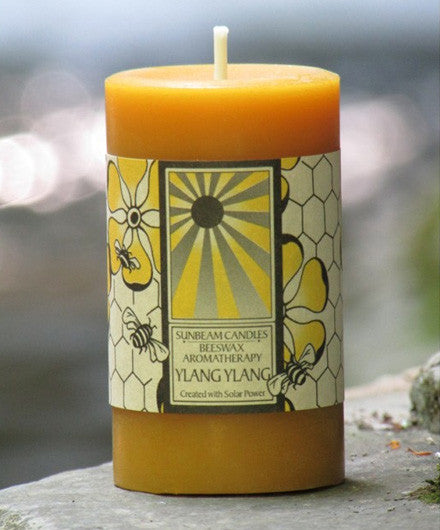 Sunbeam Candles Pure Beeswax Ylang Ylang Aromatherapy Pillar Candle - Candles - Shop Nectar - 1
