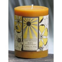 Sunbeam Candles Pure Beeswax Ylang Ylang Aromatherapy Pillar Candle - american-made, Aromatherapy, assorted-styles, Beeswax, candle, candles, candles-diffusers-incense, decor, Eco, pillar, pillar candle, Sunbeam Candles