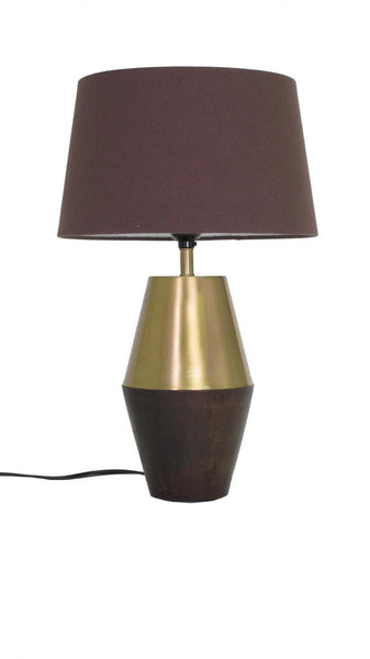 Tall Panache Lamp - brass, lamps, lighting, Mid Century Modern, table-lamps, wood