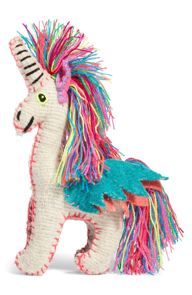 Twoolies Handmade Fair Trade Wool Unicorn- assorted-styles, unicorn, unicorns, kids, toys, toy, eco, sustainable, dolls-stuffed-animals, fair-trade, handmade, room-decor, stuffed-animals, Twoolies, Wool