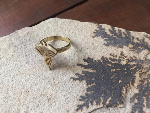 fair trade unique gifts affordable gifts gifts under $25 eco sustainable handmade brass jewelry handmade brass eagle ring bird ring unique jewelry unique gifts