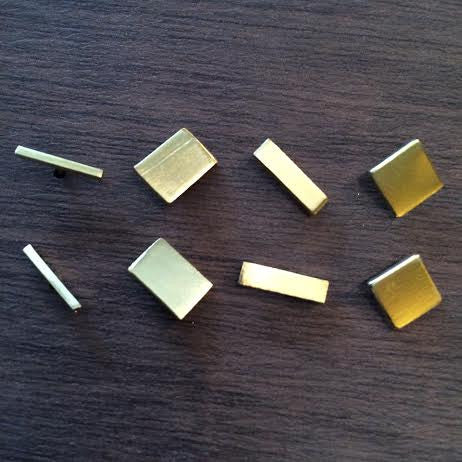 Roost Gold Bar Studs - assorted-styles, earrings, Fort Knox, gold, jewelry, rectangular, Roost, Set, Square, studs, Thick Bar, Thin Bar