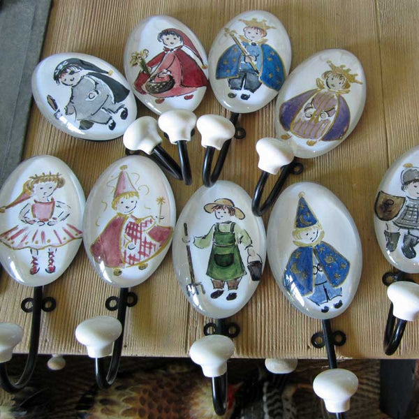 Petite Hand Painted Fairytale Wall Hooks - Wall Hooks - Shop Nectar - 1