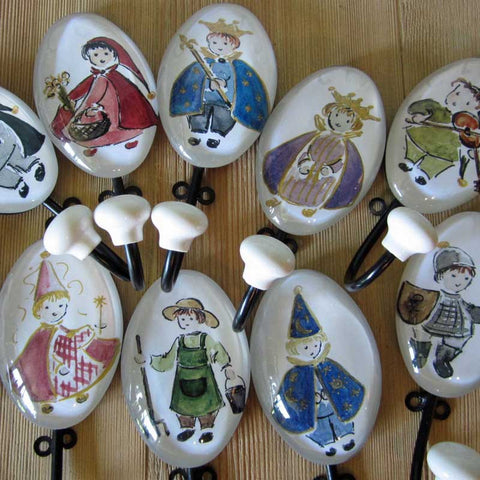Petite Hand Painted Fairytale Wall Hooks - Wall Hooks - Shop Nectar - 2