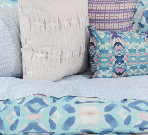 Playa Watercolor Pillows by bunglo