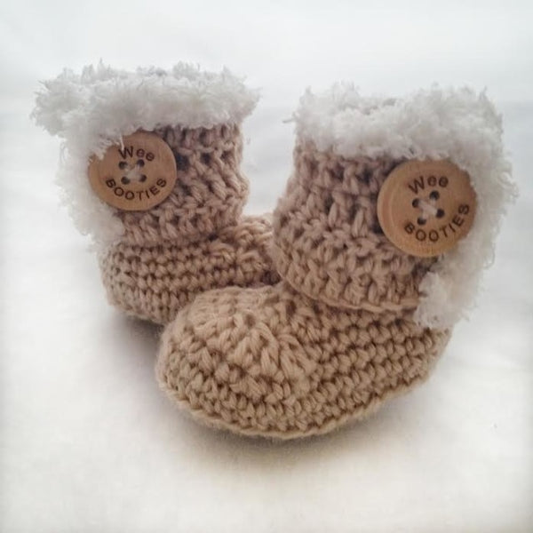 hUGGS Hand Crocheted Wool Booties - baby booties, booties, clothing-shoes-accessories, crocheted, ethically sourced, handmade, made in USA, slipper, slippers, slippers & shoes, Wool