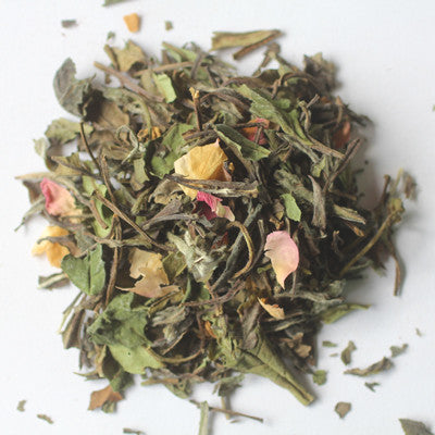 White Tea with Rose Petals Loose Leaf Tea - caffeinated, coffee-teaware, day, Divinitea, Gift, Gift Tins, gifts, kitchen-dining, leafs, leaves, lightly caffeinated, loose-leaf-tea, mother's, organic, Rose, Staff Picks : Sweets & Savories, sweets-savories, tea, teas, White Tea