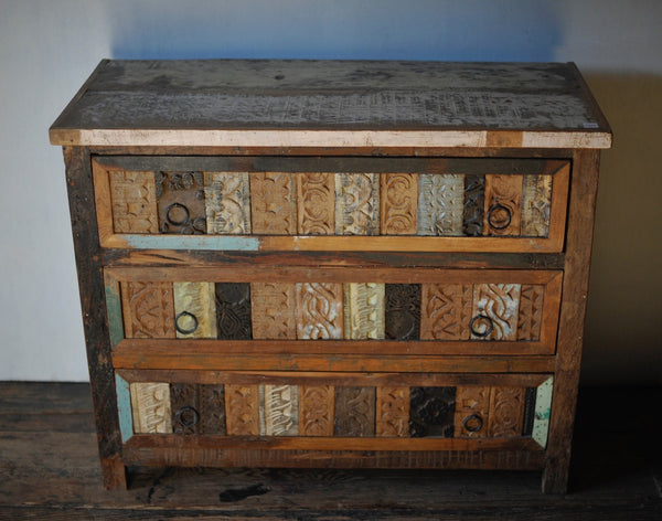 Reclaimed Wood Blockprint Dresser