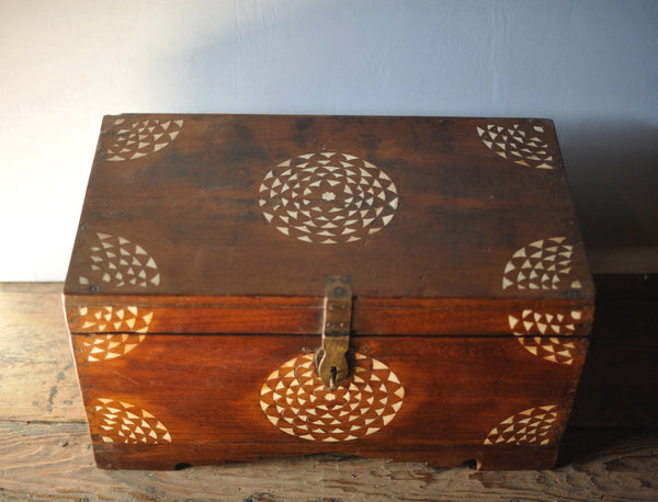 Wooden Inlayed Box with Metal Closure