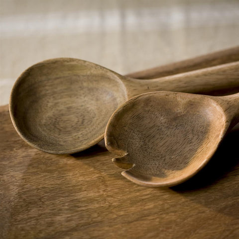Nkuku Fair Trade Mango Wood Salad Servers - Serving Utensils - Shop Nectar - 3